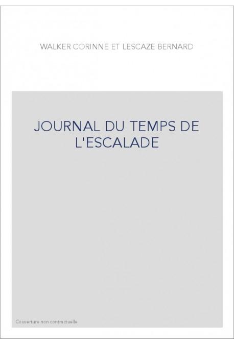JOURNAL DU TEMPS DE L'ESCALADE