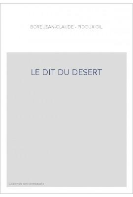 LE DIT DU DESERT