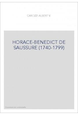 HORACE-BENEDICT DE SAUSSURE (1740-1799)