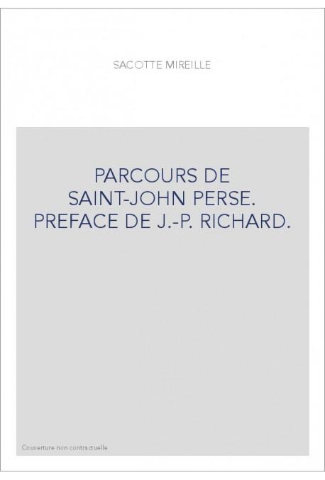 PARCOURS DE SAINT-JOHN PERSE.