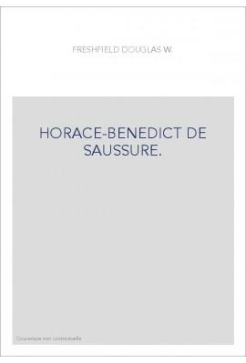 HORACE-BENEDICT DE SAUSSURE.