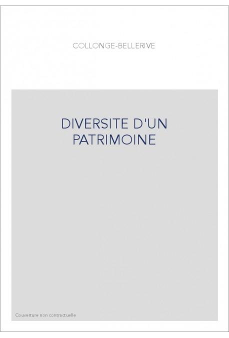 DIVERSITE D'UN PATRIMOINE