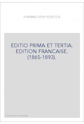 EDITIO PRIMA ET TERTIA. EDITION FRANCAISE. (1865-1893).