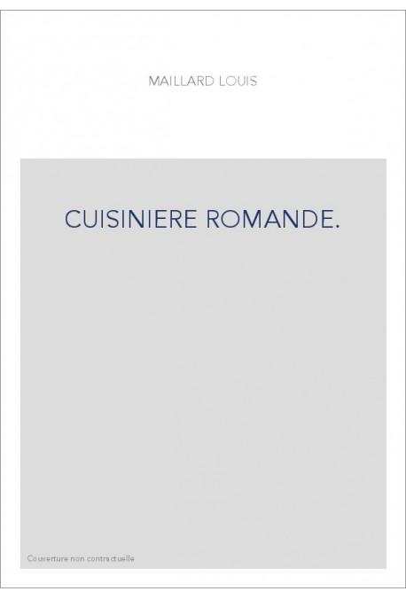 CUISINIERE ROMANDE.