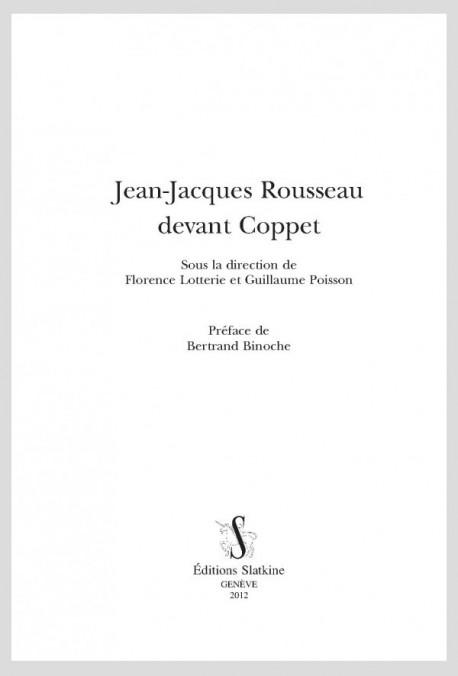 JEAN-JACQUES ROUSSEAU DEVANT COPPET