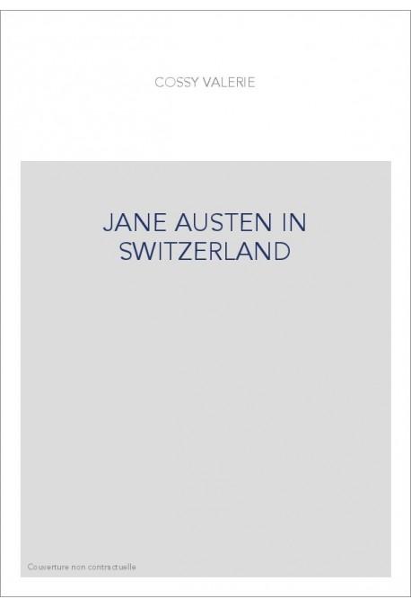 JANE AUSTEN IN SWITZERLAND