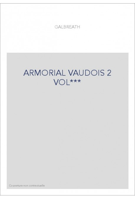 ARMORIAL VAUDOIS 2 VOL***