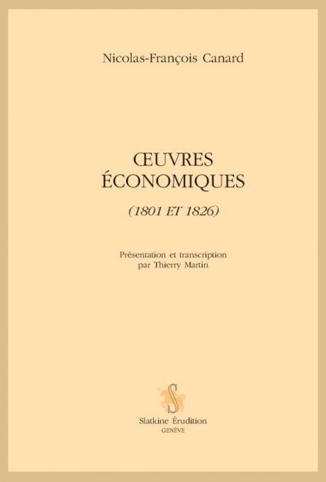OEUVRES ECONOMIQUES (1801 ET 1826)