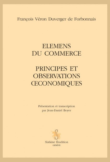 ELEMENS DU COMMERCE