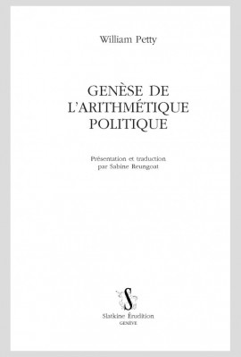 GENÈSE DE L'ARITHMÉTIQUE POLITIQUE