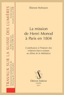 LA MISSION DE HENRI MONOD À PARIS EN 1804