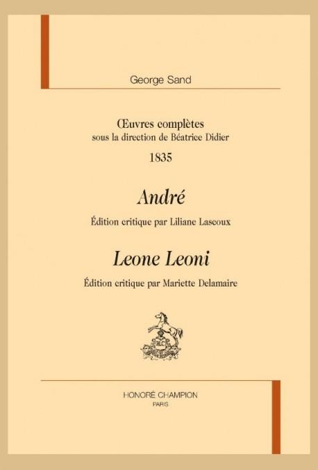 OEUVRES COMPLÈTES. 1835. ANDRÉ. LEONE LEONI