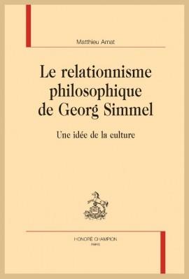 LE RELATIONNISME PHILOSOPHIQUE DE GEORG SIMMEL