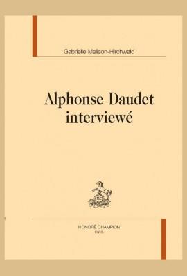 ALPHONSE DAUDET INTERVIEWÉ