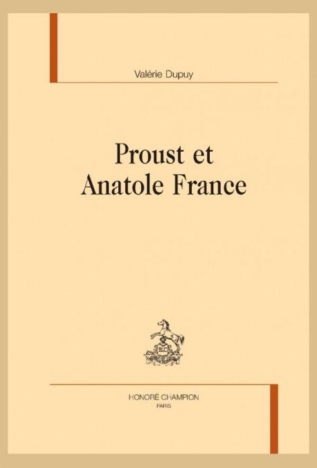 PROUST ET ANATOLE FRANCE