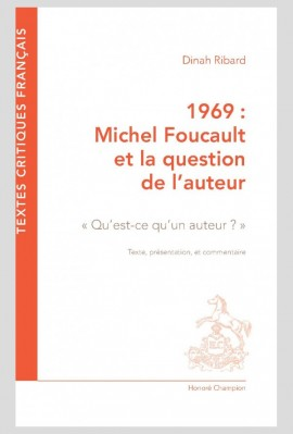 1969 : MICHEL FOUCAULT ET LA QUESTION DE L'AUTEUR