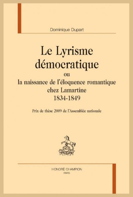 LE LYRISME DÉMOCRATIQUE