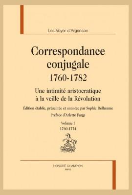 CORRESPONDANCE CONJUGALE (1760-1782)