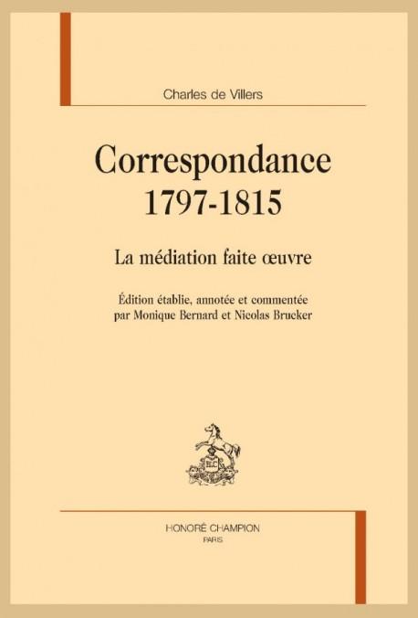 CORRESPONDANCE 1797-1815