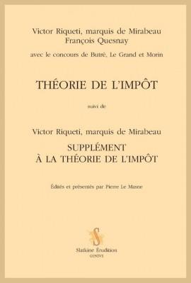 THÉORIE DE L'IMPÔT
