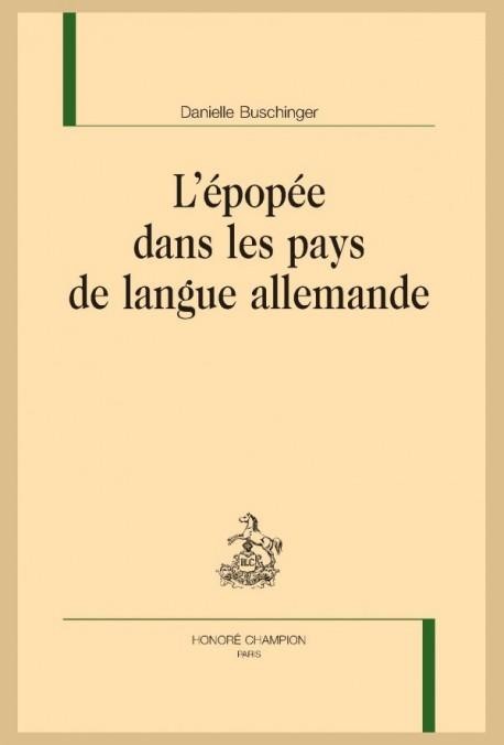 L'ÉPOPÉE DANS LES PAYS DE LANGUE ALLEMANDE