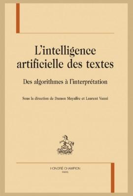L'INTELLIGENCE ARTICIFIELLE DES TEXTES